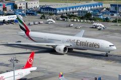 Émirats Boeing 777-31HER d'A6-ENI Photos libres de droits
