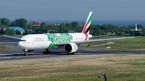 Émirats d'A6-ENB, Boeing 777-300 Photo libre de droits