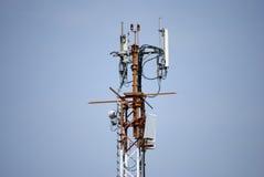 Émission d'antennes par radio Photos stock