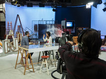 Émission de TV La Aventura del Saber images libres de droits