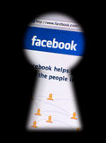 Émissions d'intimité de Facebook Images stock
