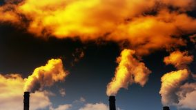 Émissions des substances néfastes dans l'atmosphère illustration stock
