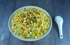 Émoi de maïs à l'oignon vert photos libres de droits