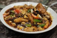 Émoi frit avec de la sauce à haricot noir Photographie stock