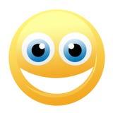 Émoticône jaune heureuse illustration de vecteur