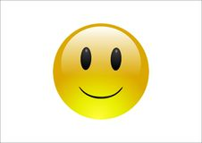 Émoticônes d'Aqua - sourire Images stock
