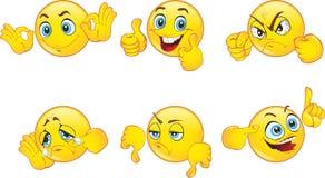 Émoticônes de smiley réglées illustration libre de droits