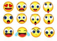 Émoticônes de sourire réglées illustration stock