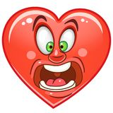 Émoticônes Smiley Emoji de coeur illustration libre de droits