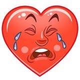 Émoticônes Smiley Emoji de coeur illustration stock