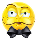 Émoticône arrogante d'Emoji illustration stock