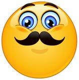 Émoticône avec la moustache Photographie stock