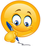 Émoticône d'écriture illustration stock