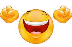 Émoticône de sourire heureuse Photos stock