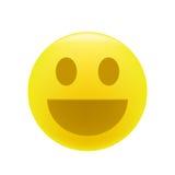 Émoticône de sourire ou riante Photographie stock