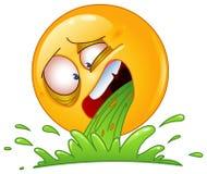 Émoticône de vomissement Photographie stock libre de droits