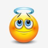 Émoticône mignonne d'ange, emoji - dirigez l'illustration illustration de vecteur