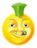 Émoticône punk d'Emoji illustration stock