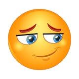 Émoticône timide de sourire Illustration de vecteur Photos stock