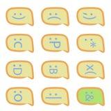 Émoticônes de sms de Smartphone illustration stock