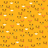 émoticônes sur un fond orange Images libres de droits