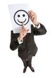 Émotion au moyen d'un smilie Image stock