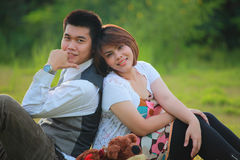 Émotion d'amour d'homme et de femme Image libre de droits