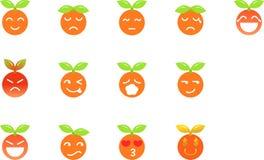 Émotion d'orange illustration stock