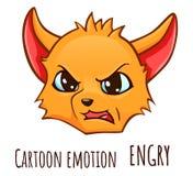 Émotion de bande dessinée du renard - engry illustration libre de droits