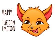Émotion de bande dessinée du renard - heureux illustration libre de droits