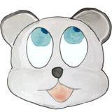 Émotion de bande dessinée, ours gris, recherchant illustration de vecteur