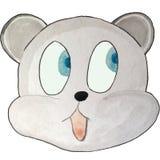 Émotion de bande dessinée, ours gris, regardant au côté illustration stock