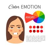 Émotion de couleur illustration libre de droits