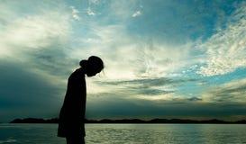 Émotion de l'amour des ombres sur la plage Image stock