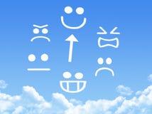 Émotion de nuage illustration libre de droits