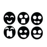 Émotion noire de masque Photographie stock