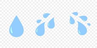 Émotion triste pleurante de bande dessinée d'isolement par oeil de thés illustration stock
