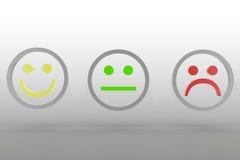 Émotions à l'arrière-plan argenté Photos libres de droits