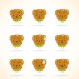 Émotions colorées de chien mignon Photos libres de droits