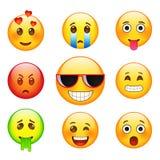 Émotions d'expressions du visage Photographie stock