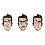 Émotions d'homme réglées Images stock