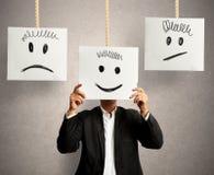 Émotions dans les affaires image libre de droits