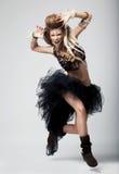 Émotions. Danse expressive de femme. Théâtre image libre de droits