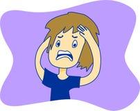 Émotions de fille Photo libre de droits