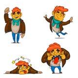 Émotions de garçon de bande dessinée réglées Photos libres de droits