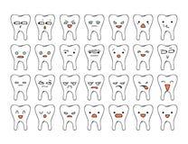 Émotions de griffonnage de l'ensemble 35 Émotions de croquis Émotion de griffonnage illustration stock