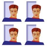 Émotions de l'homme illustration de vecteur