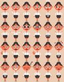 Émotions de personnage féminin Photographie stock libre de droits