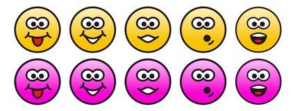Émotions de personnalité Photographie stock libre de droits