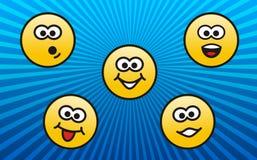 Émotions de personnalités Images libres de droits